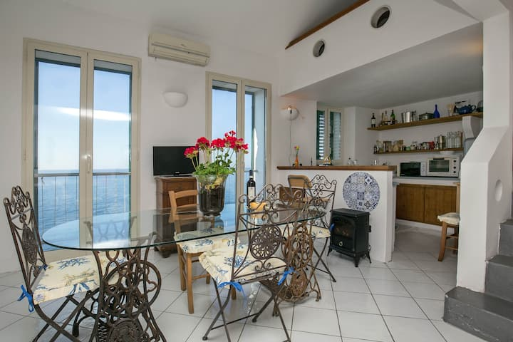 Unique villa, ocean front on the Amalfi coast.