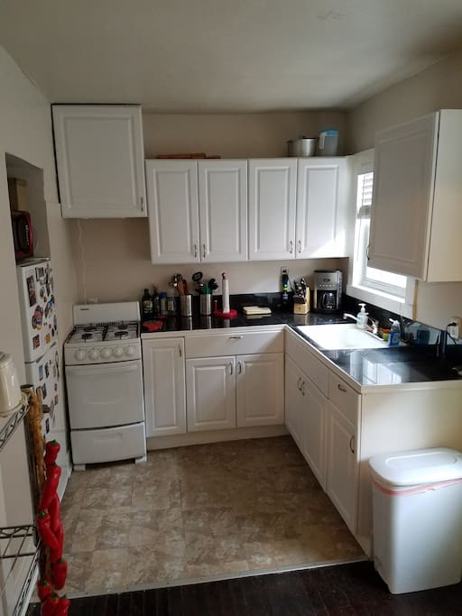 Galley Kitchen w/ available fridge.