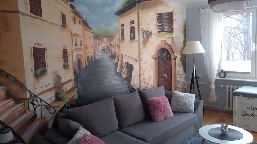 Apartament Dookoła Świata w Centrum Słupska