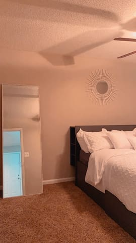 Bedroom and full size body mirror
