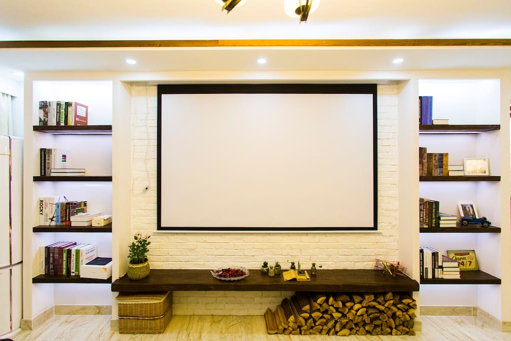 客厅100寸家庭影院实拍