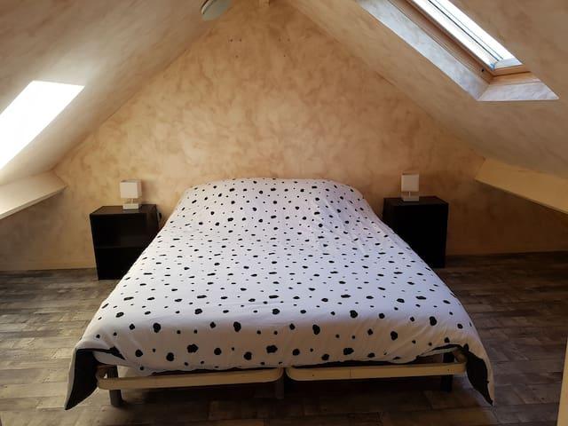 Chambre 1, version avec le lit double