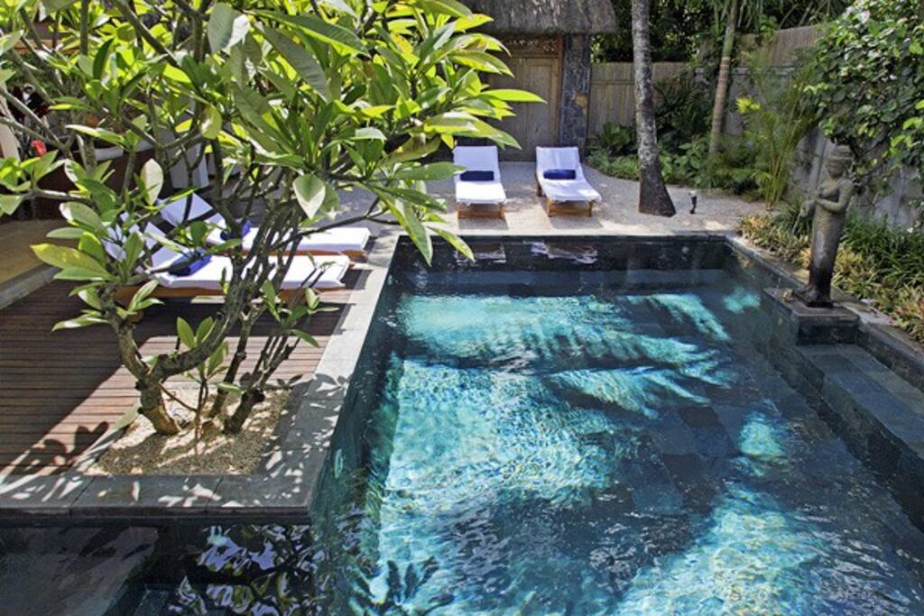 Private pool / La piscine en ardoise