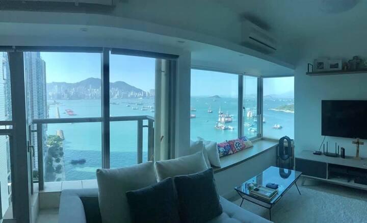 Cosy & calm spot - Hong Kong skyline clear view