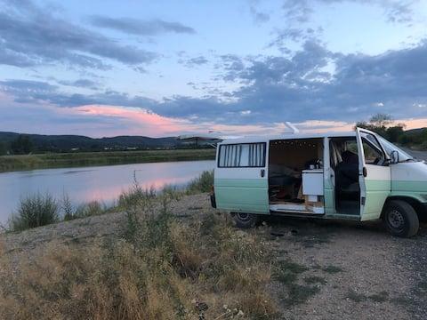 Hyggelig campingvogn til leje