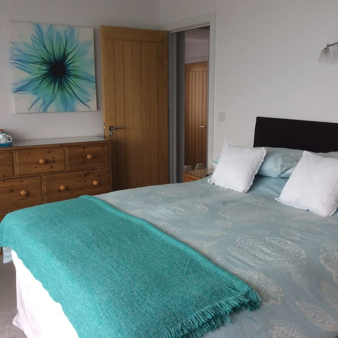 Another stunning bedroom with ensuite shower room with own balcony and views of Port Isaac Bay