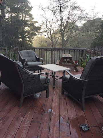 Enjoy the large deck