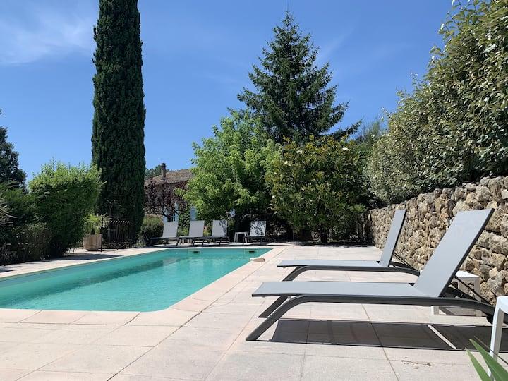 NOUVEAU:  Mas en pierre - piscine - sud Ardèche