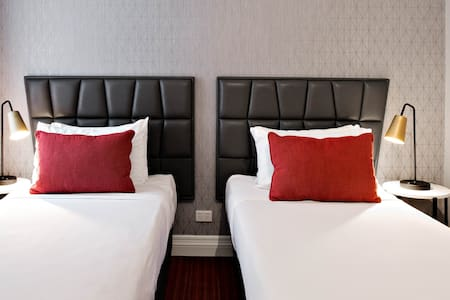 Great value option, the room features two singles beds
