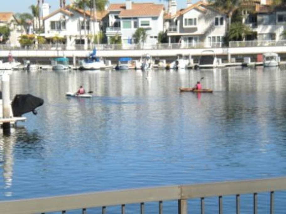 This is the view from the front patio, where water sports is available.