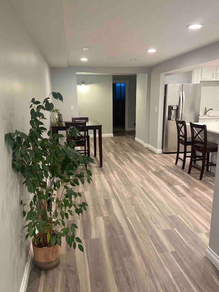 New and fully furnished basement apartment