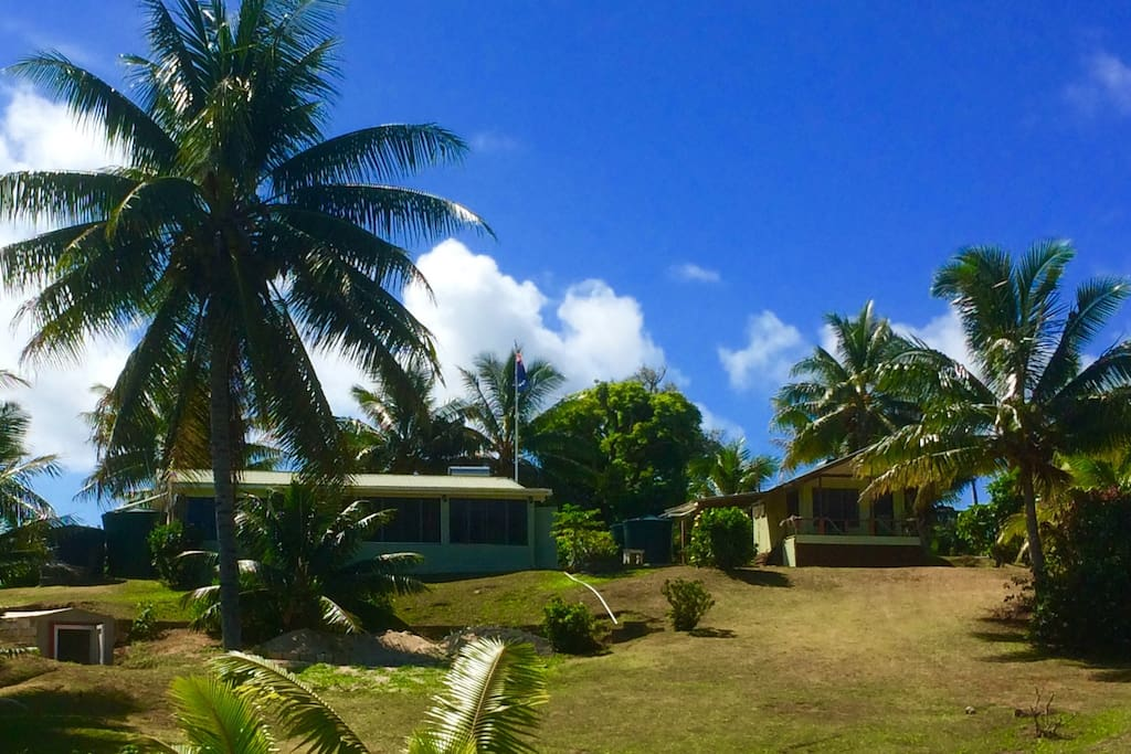 View of the bungalow and 'the neighbours'!