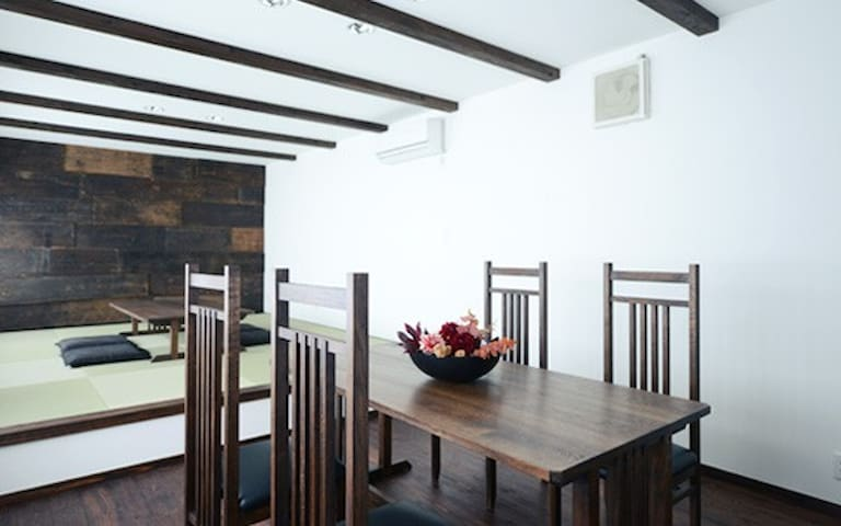 「4Lines space」 湯原温泉にある家具職人プロデュースの滞在スペース