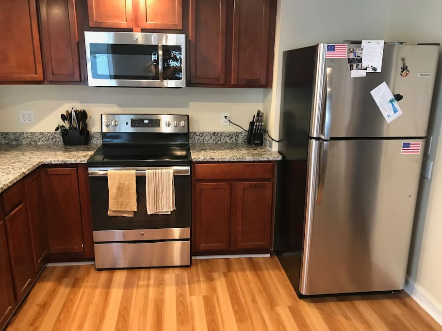 Kitchen - Newly installed Stainless Steal Appliances
