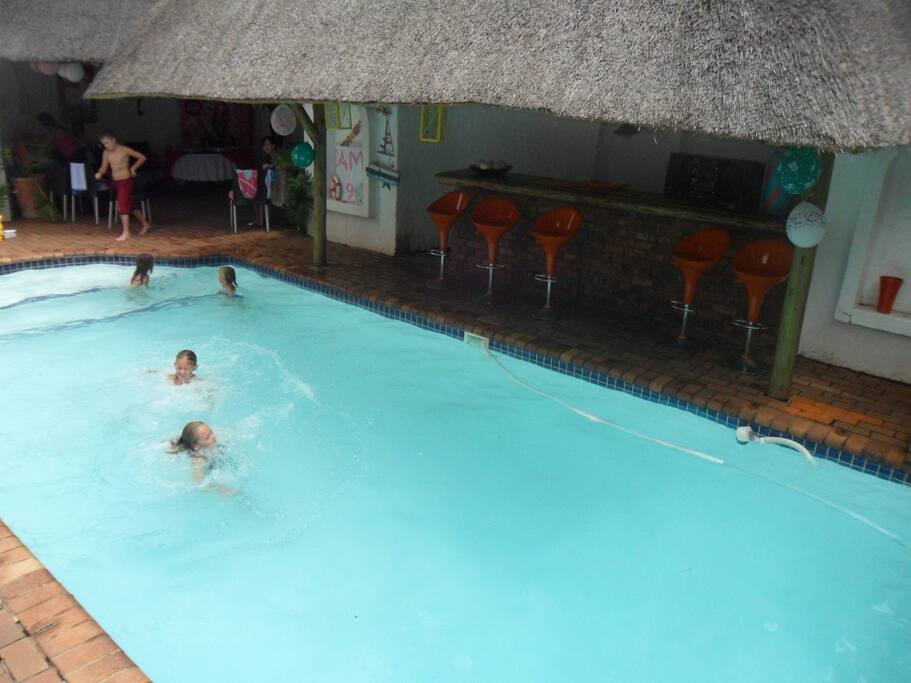 Our sparkling swimming pool. Open between 06-00-20:00