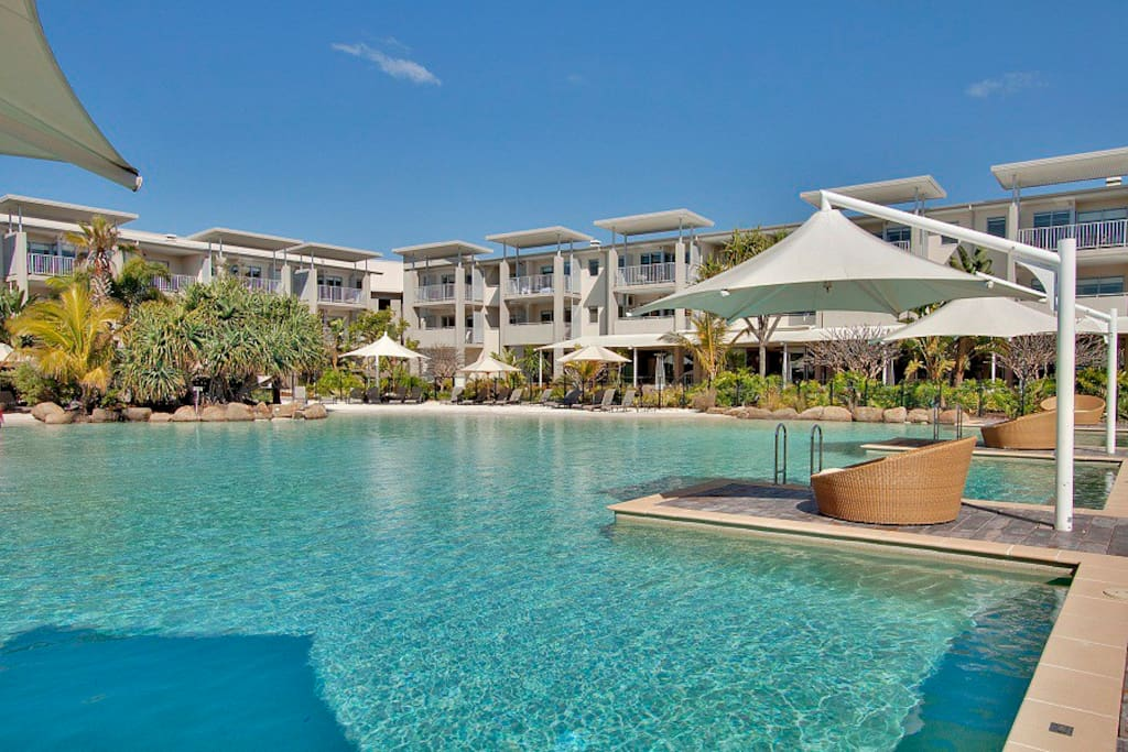 Resort lagoon pool