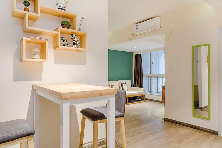 钟鼓楼(永宁门地铁站D出口宏信花园)清新雅致一居室 - Xi'an - Apartment