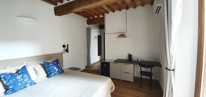 Independent Deluxe Double Room in Italian Borgo