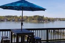 Deck overlooking Lake Greenwood