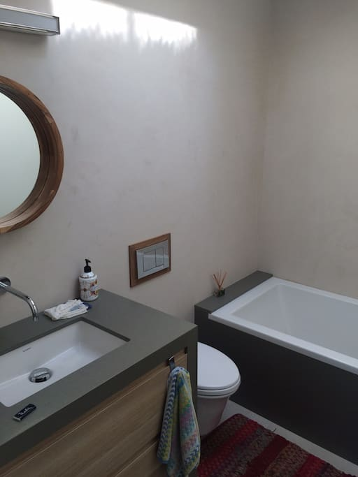 Your private Bathroom with a huge tub!