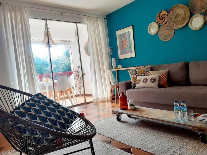 Appartement de qualité avec accès privé à la plage