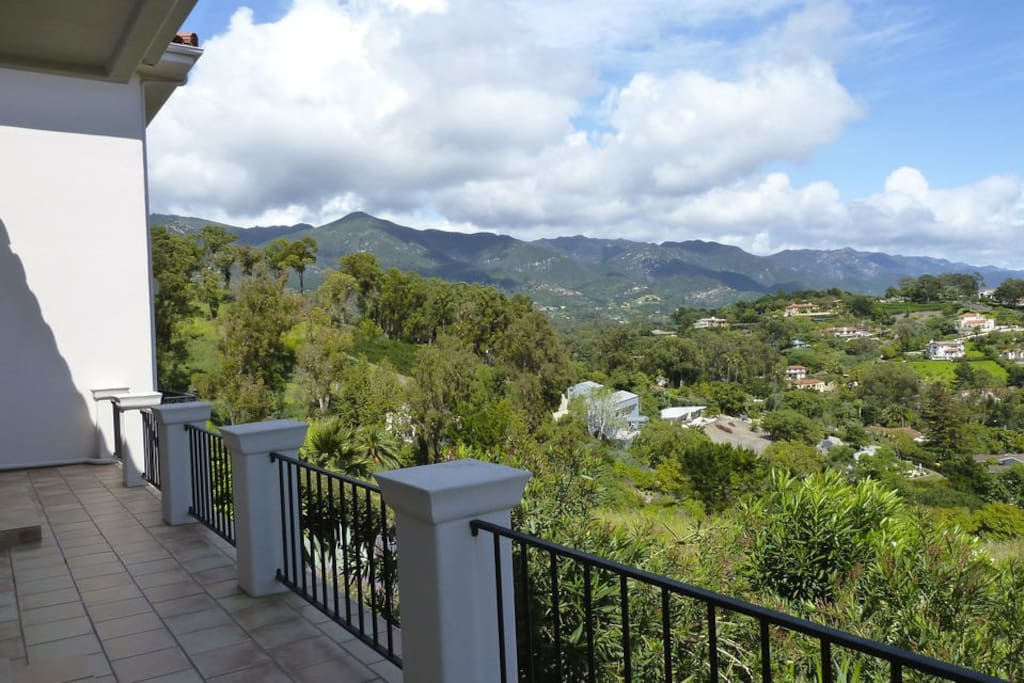 In addition to ocean views, you have gorgeous mountain views as well.