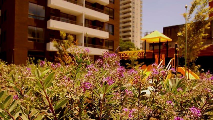 Jardín del condominio