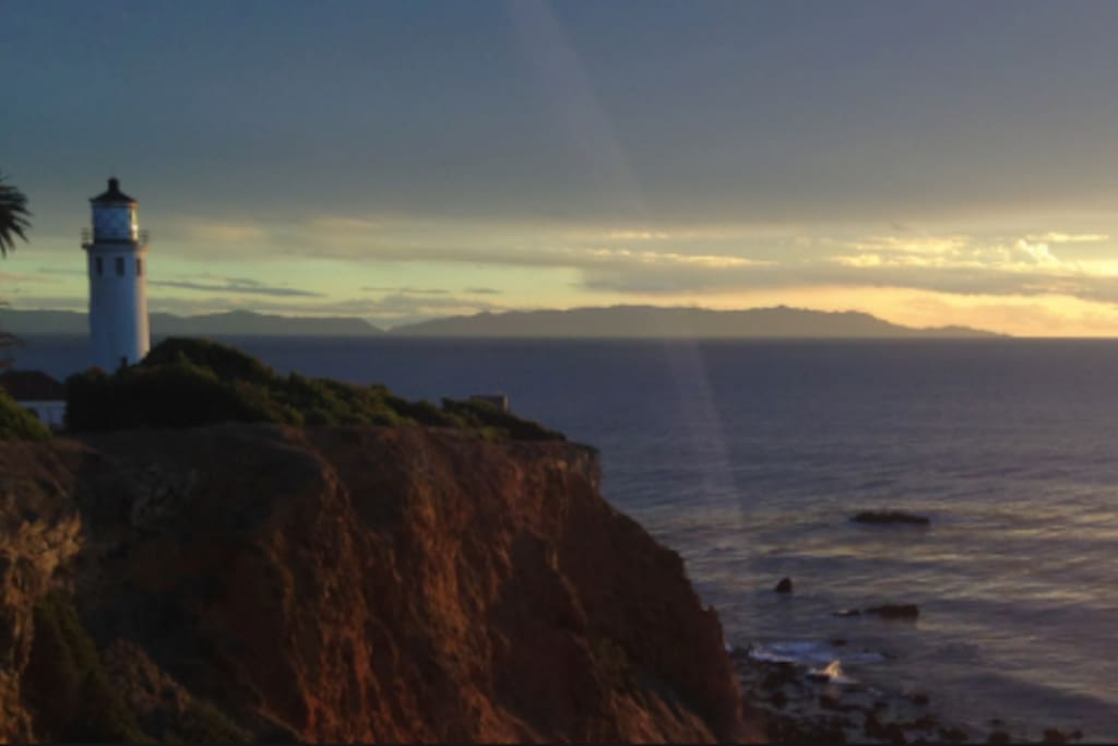 Pt. Vicente Lighthouse - Sunset View of Catalina Island from nearby cliffs of Rancho Palos Verdes