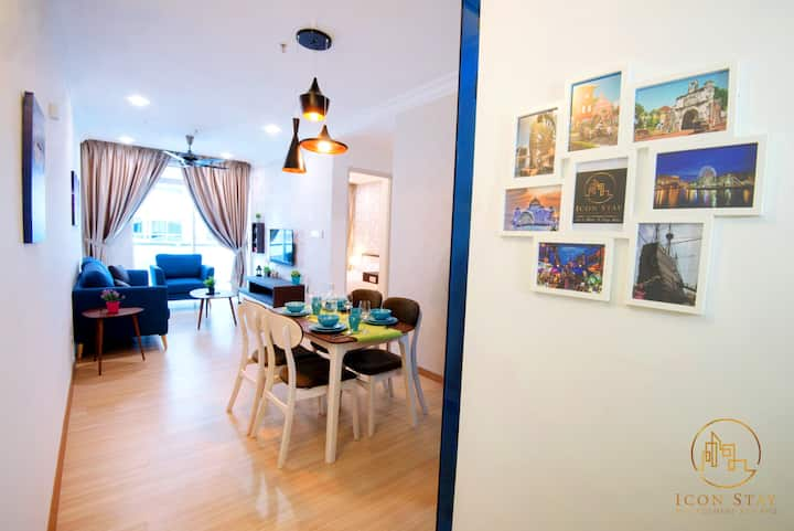 SeaView 5pax The Wave Residence Malacca@IconStay