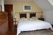 Our cosy top floor room - still enough space for a fold out bed or cot