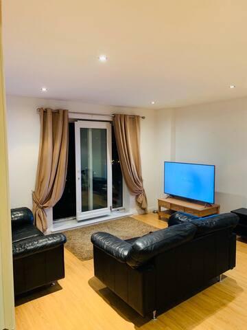 En-suite room in a modern apartment
