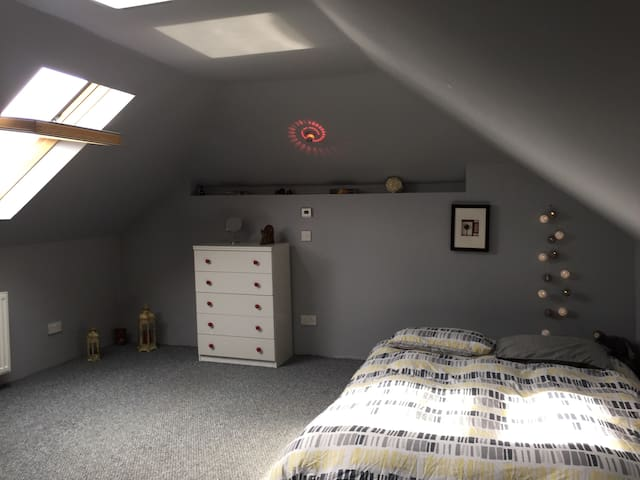Moder Attic Double Room with BF & coffee