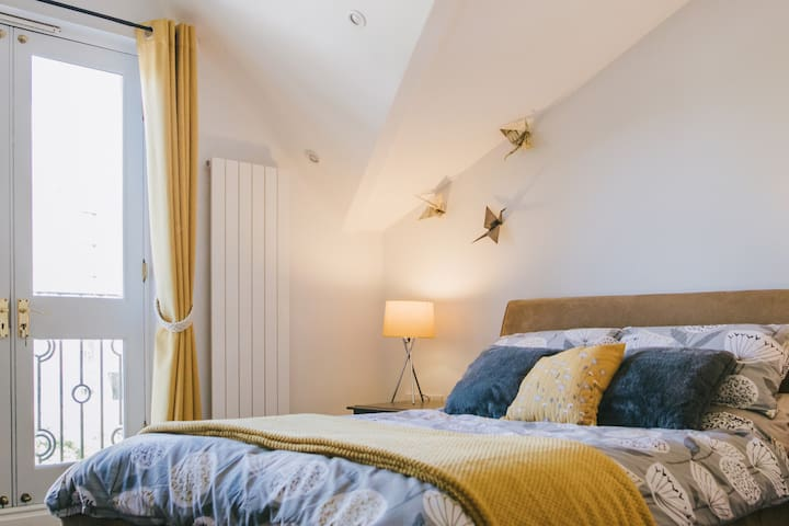 Master Bedroom with quirky roof detail