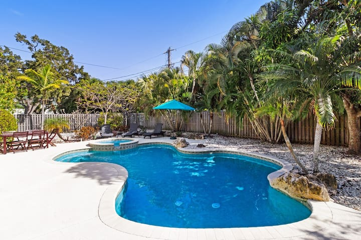 Dog-friendly home w/ private pool in quaint neighborhood