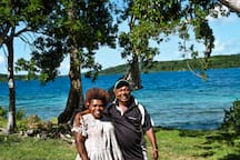 Kalo & his wife will welcome you and they will be your local contact on the island