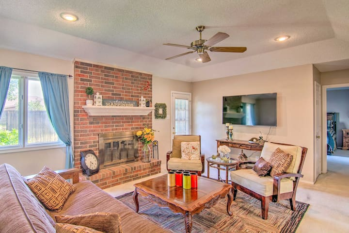 This vacation rental features an open floor plan in the living areas.