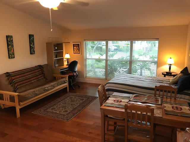 Beautiful studio/Canal view in patio/Walk to UM - South Miami - House