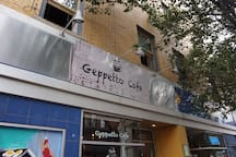 Right on top of lovely Geppetto cafe of Lawrenceville!