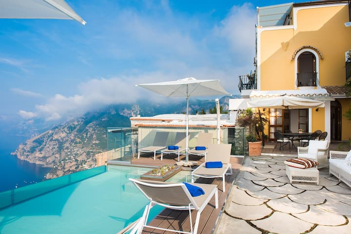 AMORE RENTALS - Villa Zeus with private Pool, Sea View, Terraces and Air Conditioning