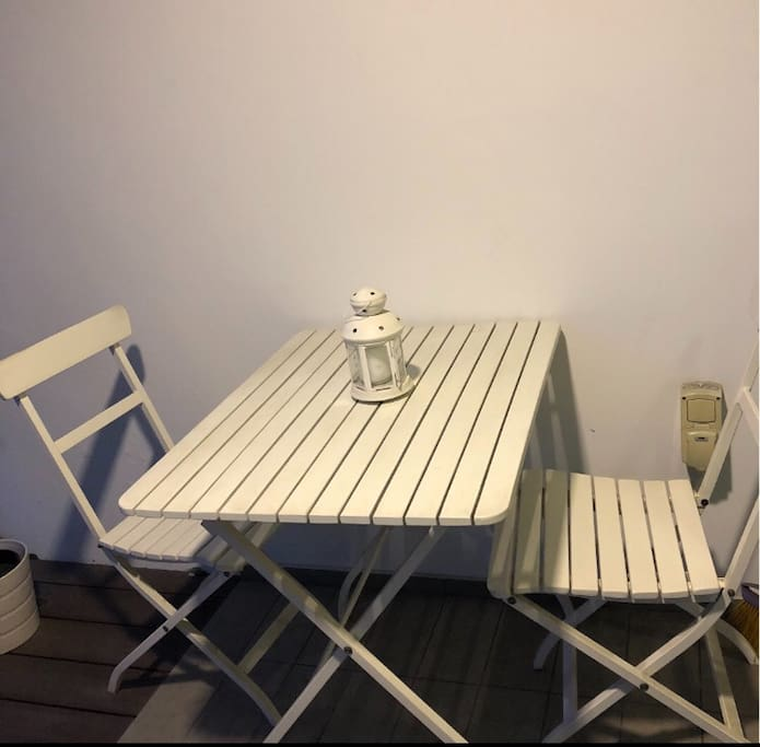 An exclusive chill corner at balcony