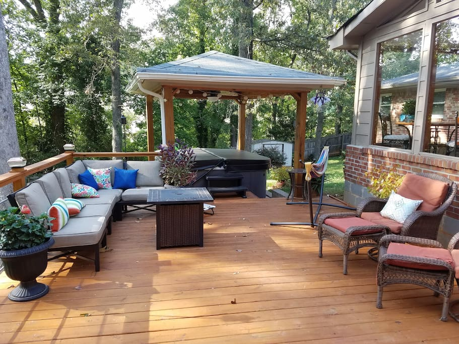 Relax and unwind on the deck.