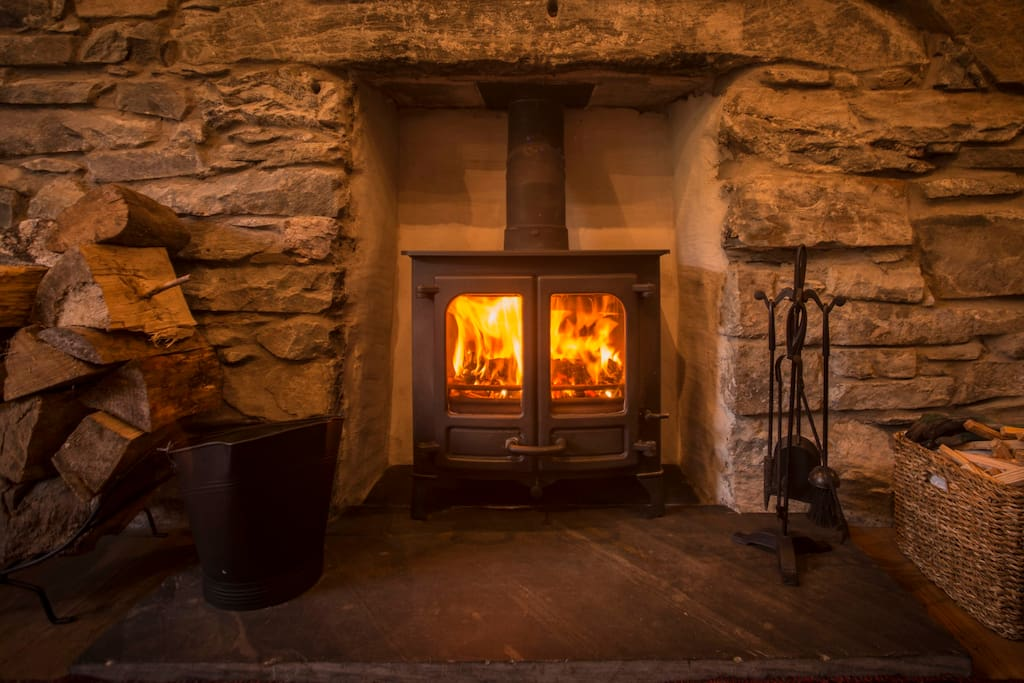 Log Burner for the winter months, cosy nights in :)