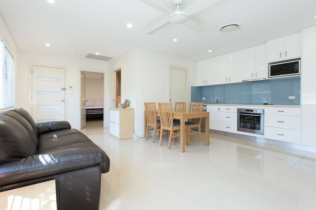 Sunny and spacious open plan lounge and dining room