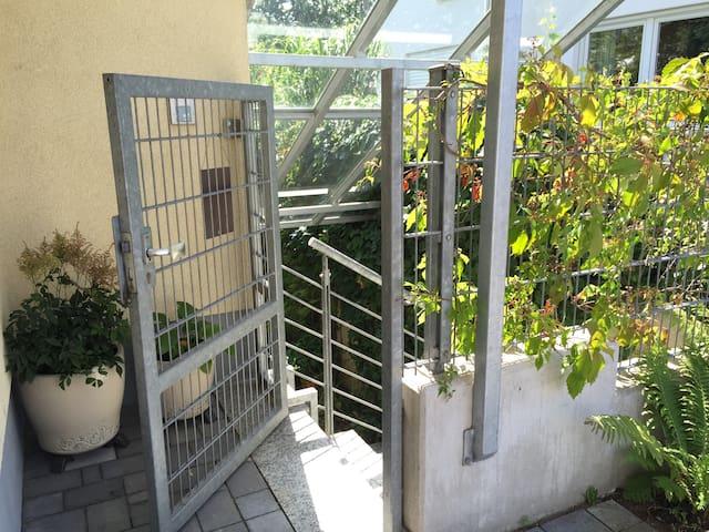 Apartment mit Gartenblick - Laudenbach - Wohnung