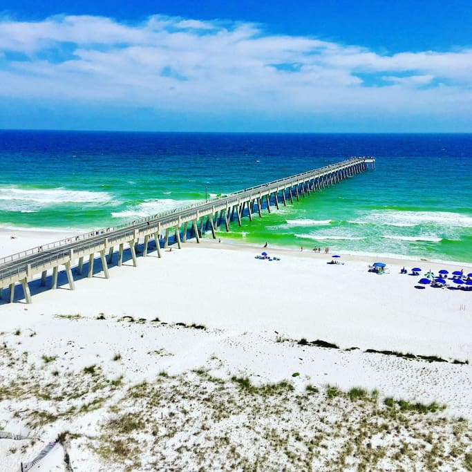 View of the longest pier in Northwest Florida