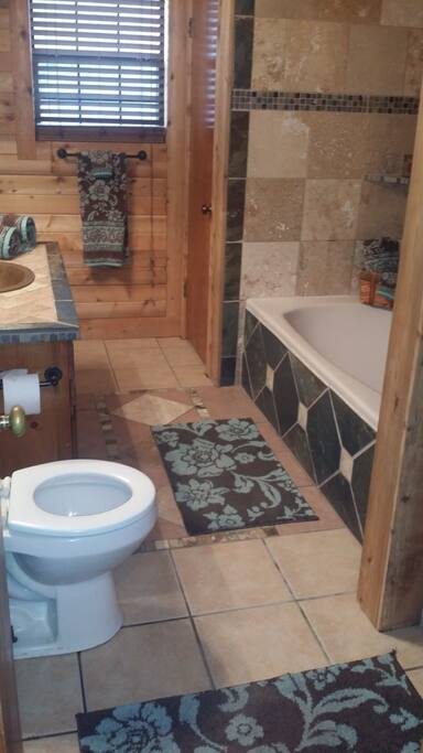 Large Garden Tub & Stand up Shower
