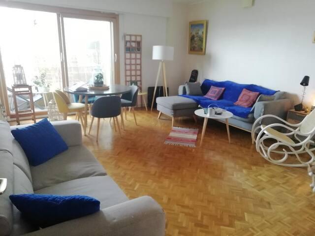 Chambre privée dans résidence  calme  avec vue