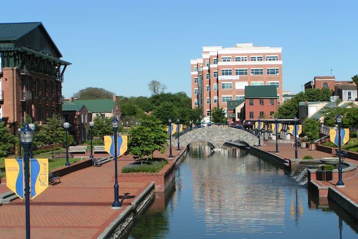Downtown along the creek