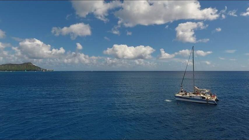 I'm on a boat! - Honolulu