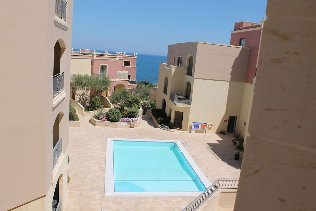 Private pool, view from balcony